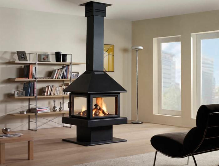 design-d-intérieur-cheminée-centrale-design-original-idée