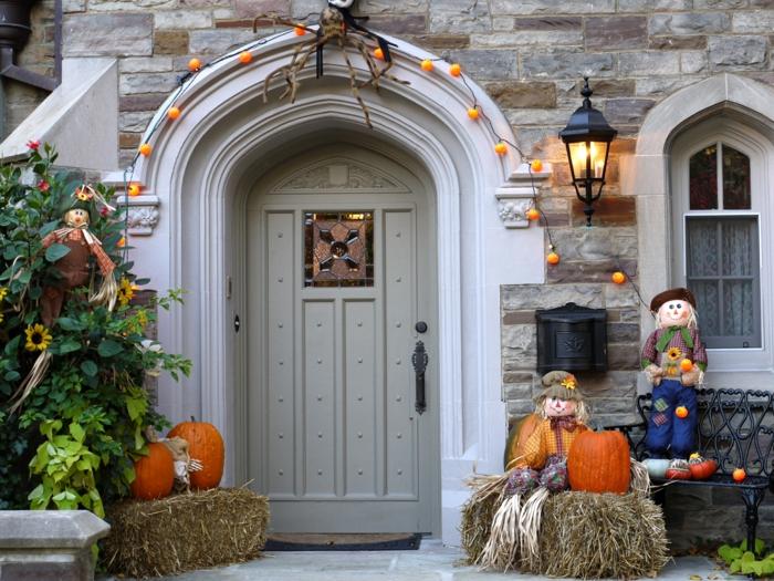 faire-une-citrouille-d-halloween-la-fête-de-Toussaint-belle-maison-bien-décorée