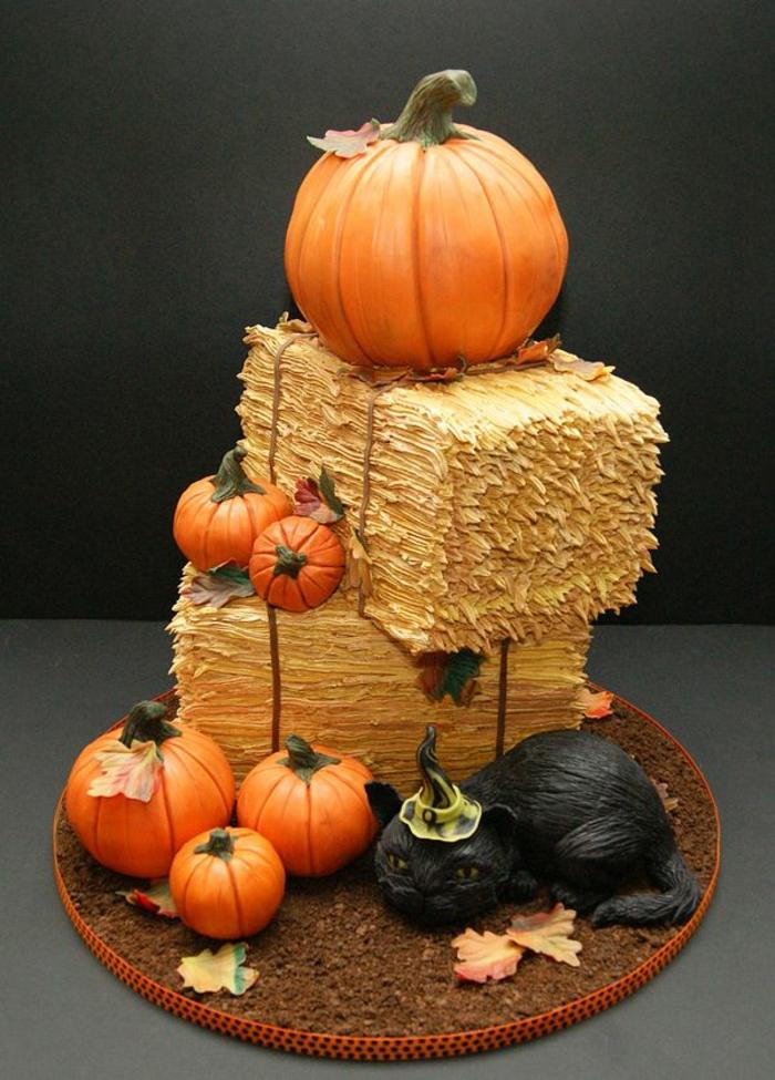 gâteau-halloween-facile-faire-la-fête-toussaint-déco-idée-originale