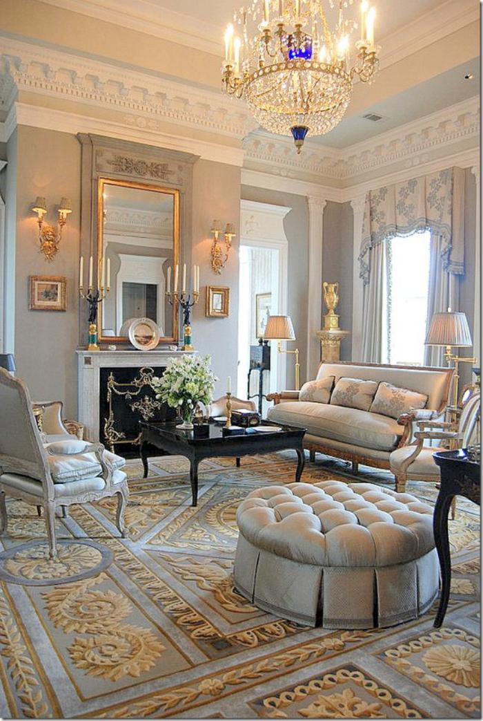 grand-lustre-aménagement-baroque-d'un-grand-salon