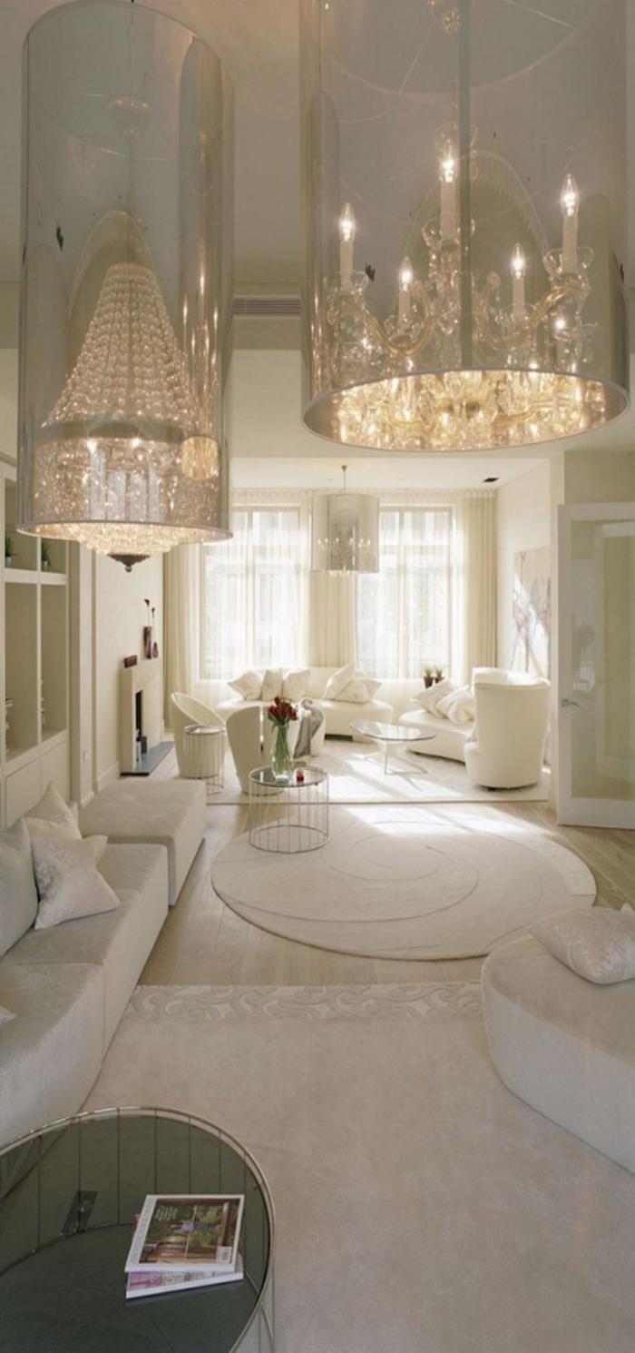 grand-lustre-deux-plafonniers-modernes-de-style-vintage
