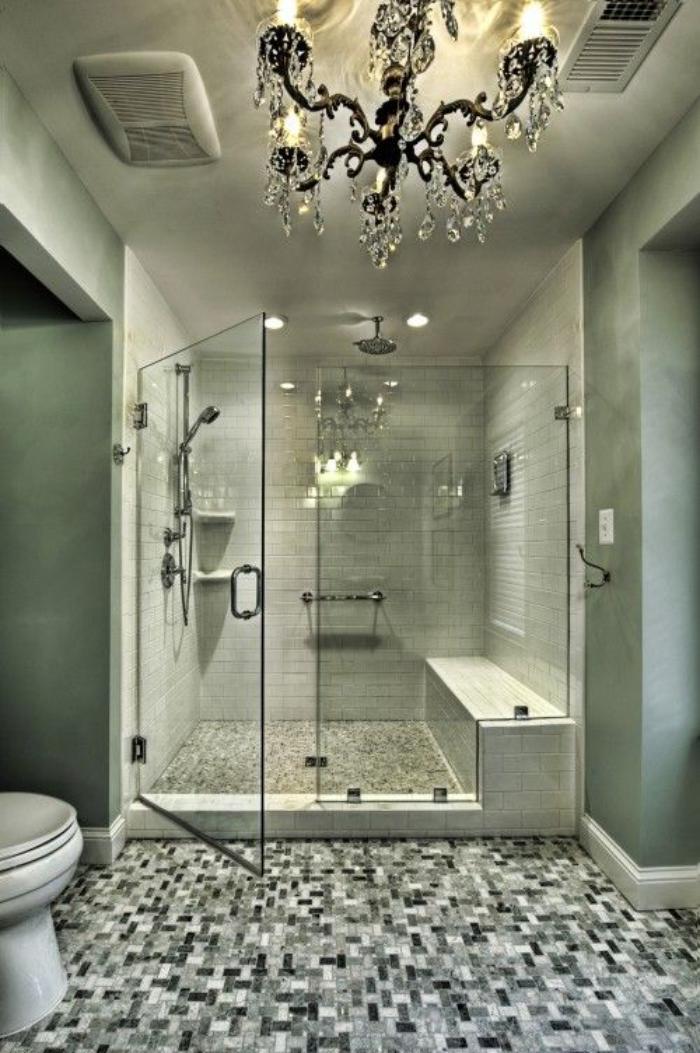 D corer les salles et les entr es avec un grand lustre for Decorer salle de bain