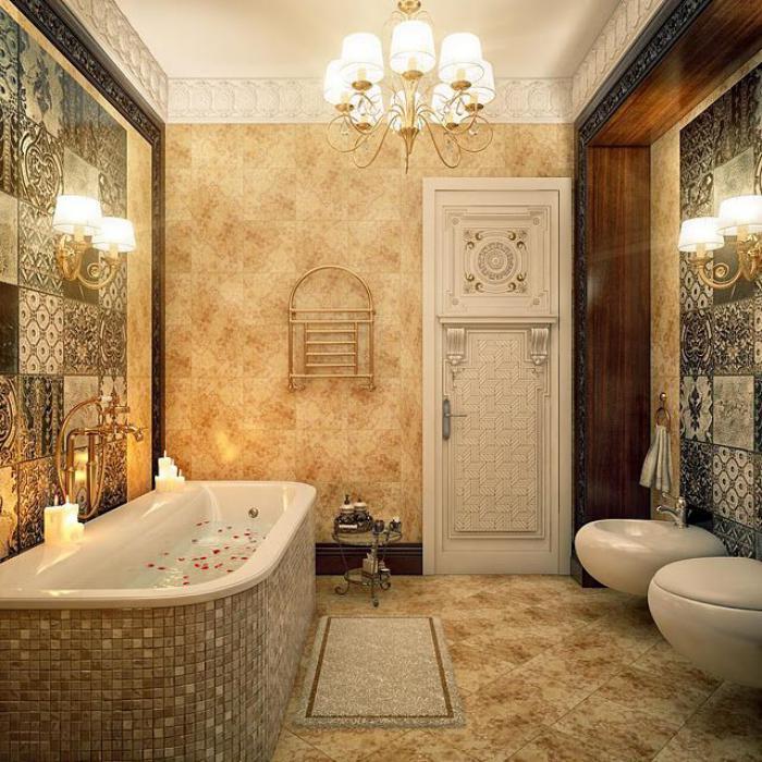 D corer les salles et les entr es avec un grand lustre for Lustre salle de bain moderne