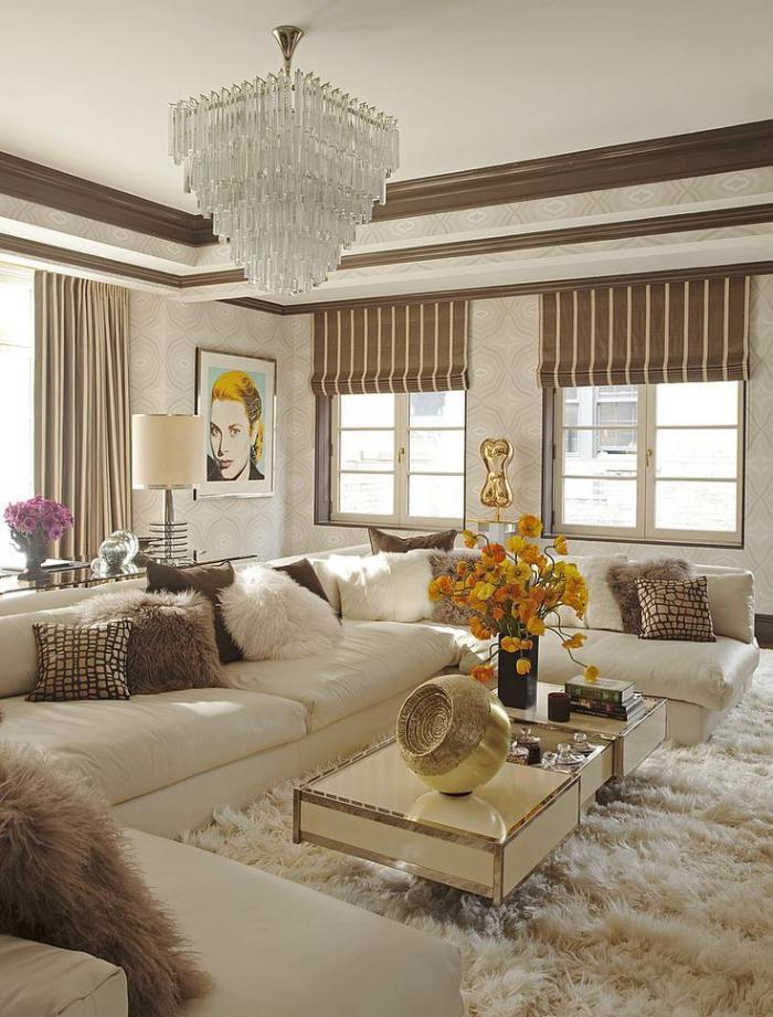 grand-lustre-salle-de-vie-moderne-plafonnier-étages-rectangulaires