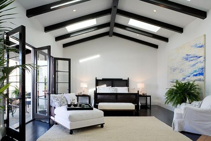 grande-fenetre-français-à-quoi-cela-ressamble-salon-blanc-canapé-lit