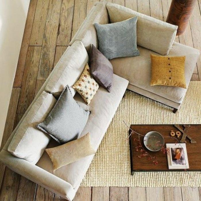 Le gros coussin pour canap en 40 photos - Coussins cuir pour canape ...