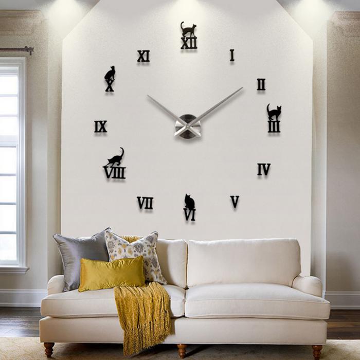 awesome with grosse horloge murale design. Black Bedroom Furniture Sets. Home Design Ideas
