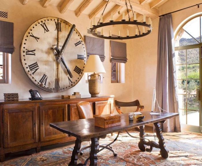 horloges-murales-grande-horloge-et-équipement-rustique