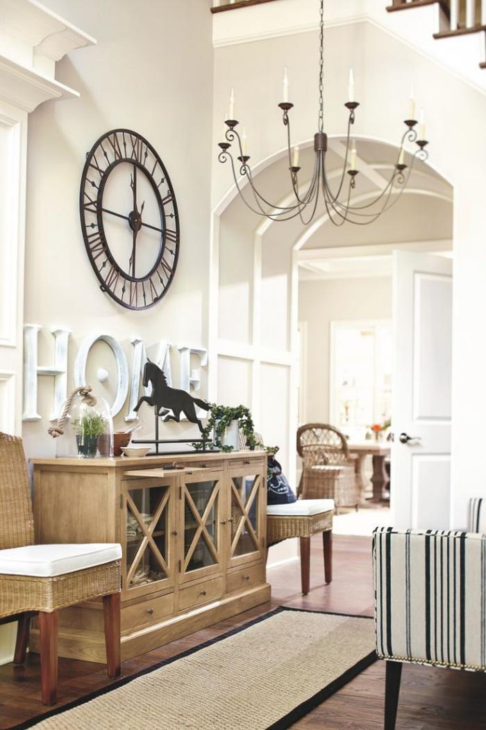 Large Foyer Wall Decor : La tendance horloges murales décorez avec du style