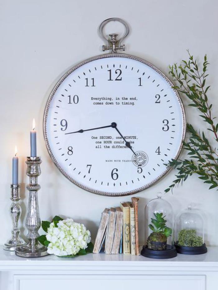 horloges-murales-le-shabby-chic-à-la-maison