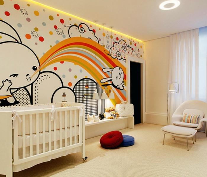 idée-chambre-bébé-decoration-originale-jouets-lit-bébé-animaux