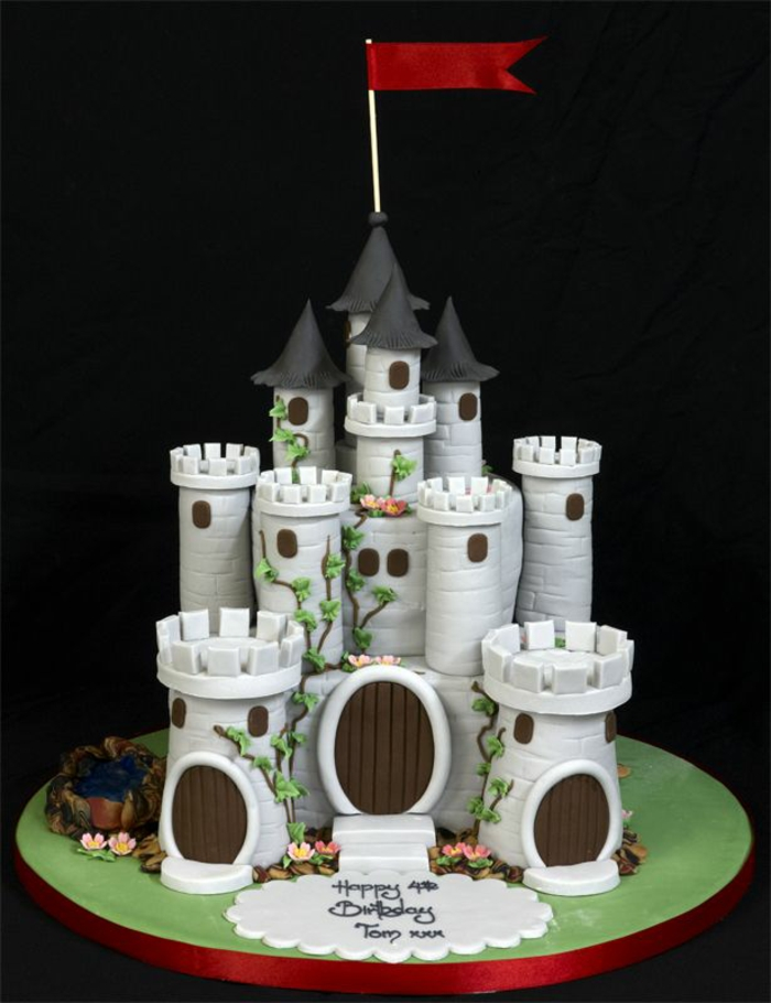 idée-gâteau-château-cool-anniversaire-toures-gris