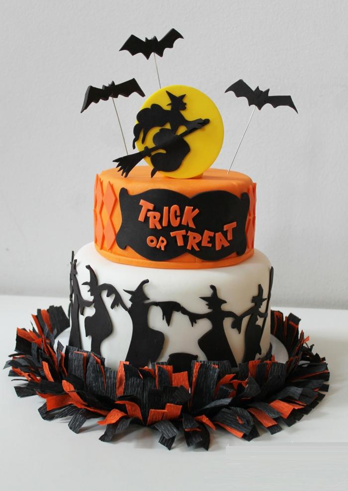 Exceptional idee deco gateau halloween 14 id e g teau d halloween pr parer - Idee deco gateau halloween ...