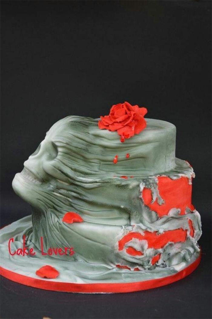 idée-gâteau-d-halloween-préparer-un-gâteau-festive-visage
