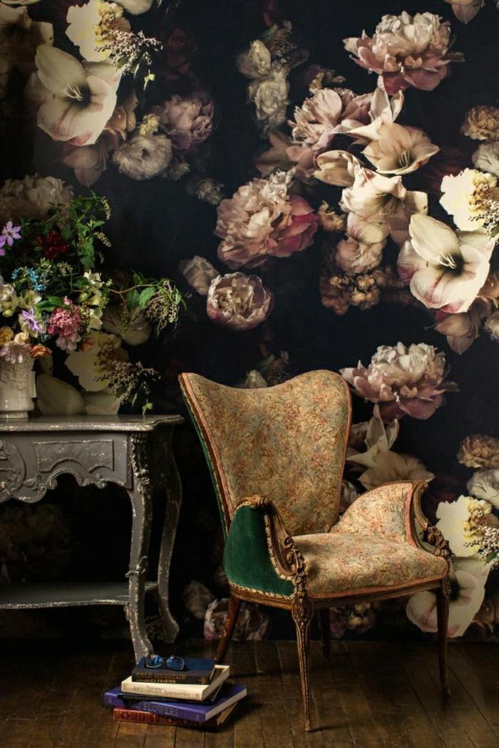 idées-de-décoration-mural-papier-peint-designer-guild-idée-fleurie-vintage