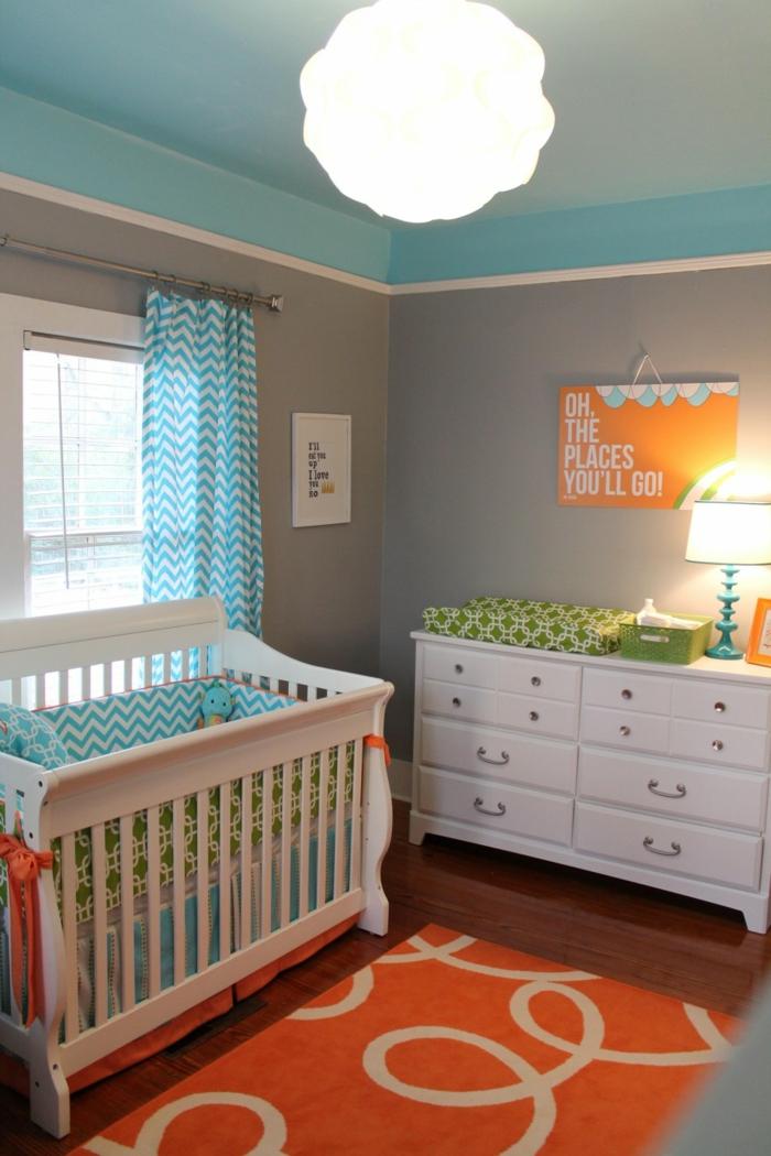 idee-deco-chambre-bebe-fille-accessoiriser-la-chambre-tapis-orange