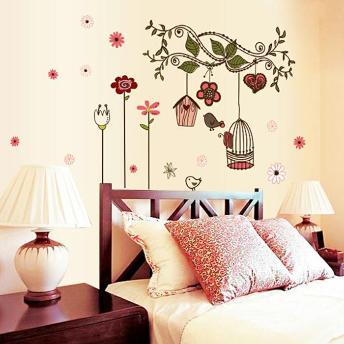 idee-papier-peint-pour-la-chambre-à-coucher-moderne-papier-peint-avec-flurs