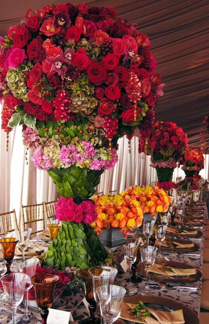 Un gros bouquet de fleurs pour cr er une d coration de table - Enorme bouquet de fleurs ...