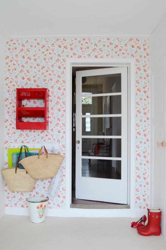 Le papier peint en 52 photos pleines d 39 id es - Papier peint entree maison ...