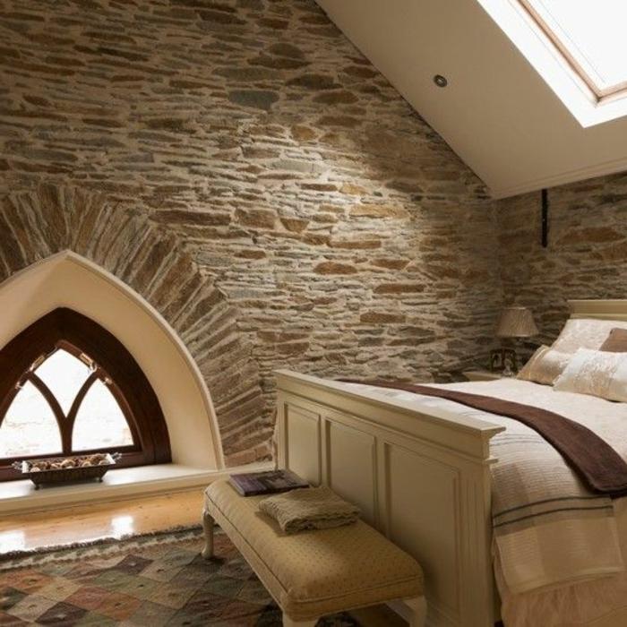 Le mur en pierre apparente en 57 photos for Prix ouverture fenetre mur pierre