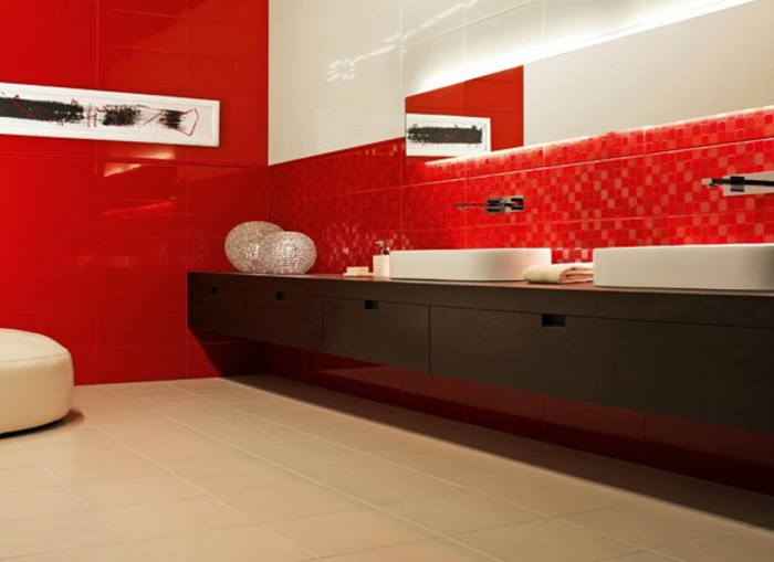 Carrelage mural rouge pour cuisine maison design for Carrelage mural rouge