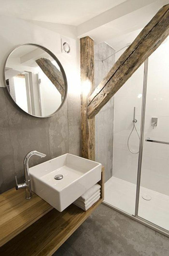 La poutre en bois dans 50 photos magnifiques for Ambiance salle de bain leroy merlin