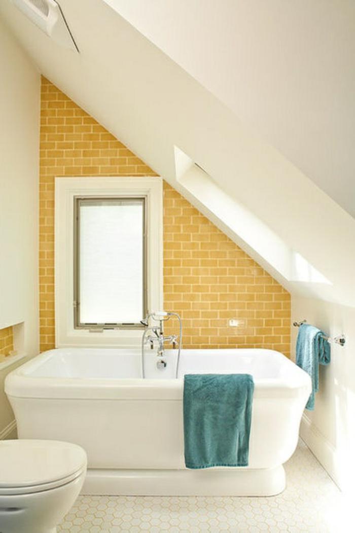 Comment am nager une petite salle de bain for Carrelage jaune salle de bain