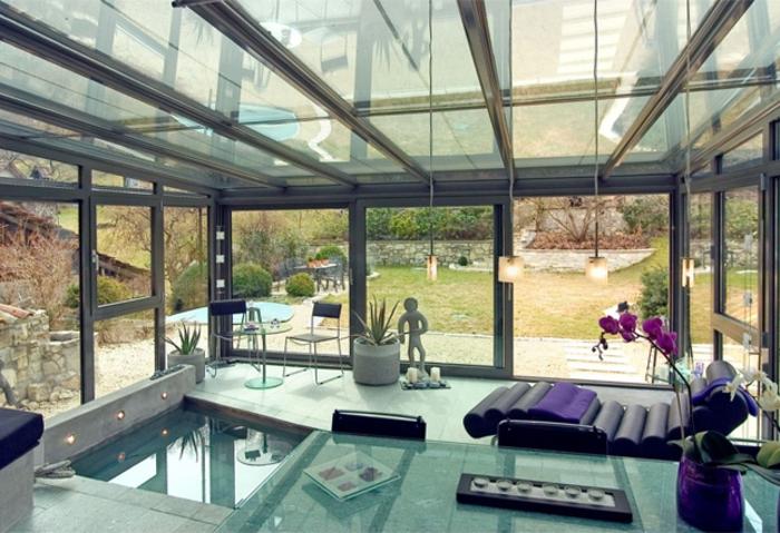 La v randa en kit 40 variantes en images for Veranda moderne piscine