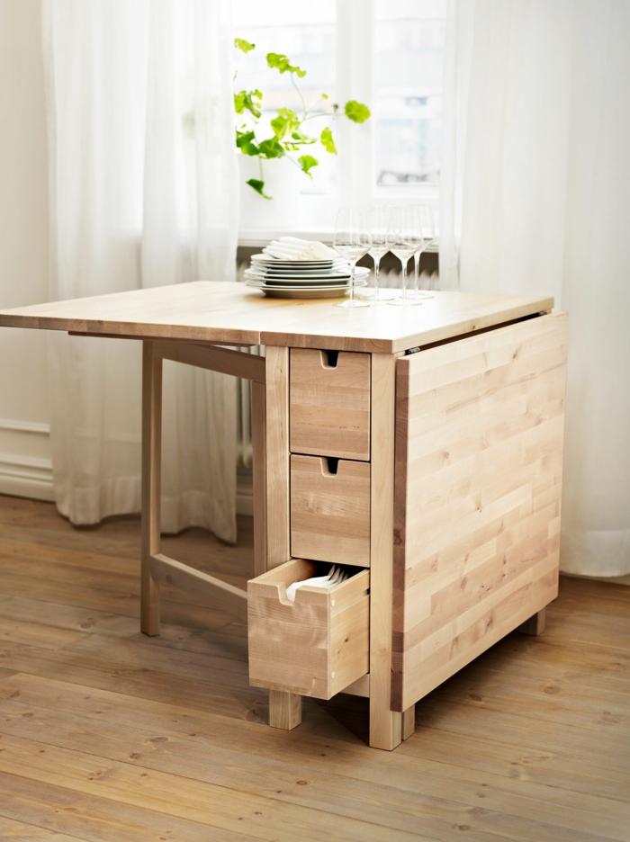 La table de cuisine pliante 50 id es pour sauver d 39 espace - Table pliante pour studio ...