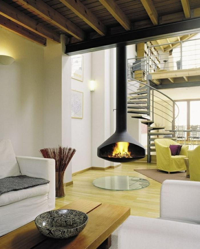 la-cheminée-centrale-foyer-fermé-intérieur-moderne-aménagement-salle-de-séjour