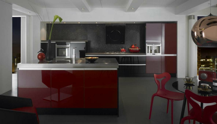 La couleur bordeaux un accent dans l int rieur contemporain for Meuble accent la sarre