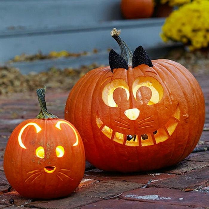la decoration dessin citrouille halloween citrouille souries - Decoration Citrouille Pour Halloween