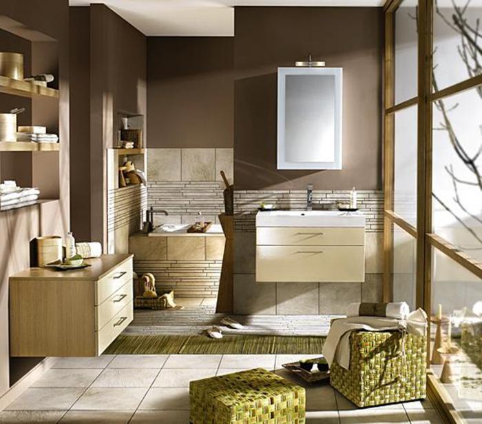 le-carrelage-salle-de-bains-beauté-et-confort-zen-beige-et-brun