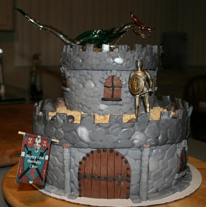 le-gateau-chateau-medieval-chevalier-anniversaire