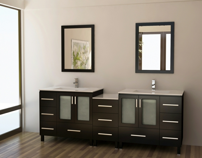 Beautiful meuble double vasque industriel gallery for Meuble lavabo double vasque