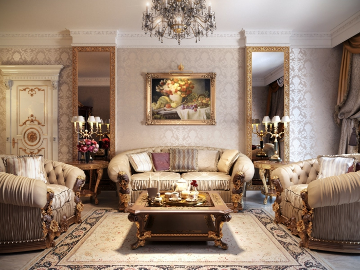 le-papier-peint-salon-design-papier-peint-trompe-l-oeil-baroque