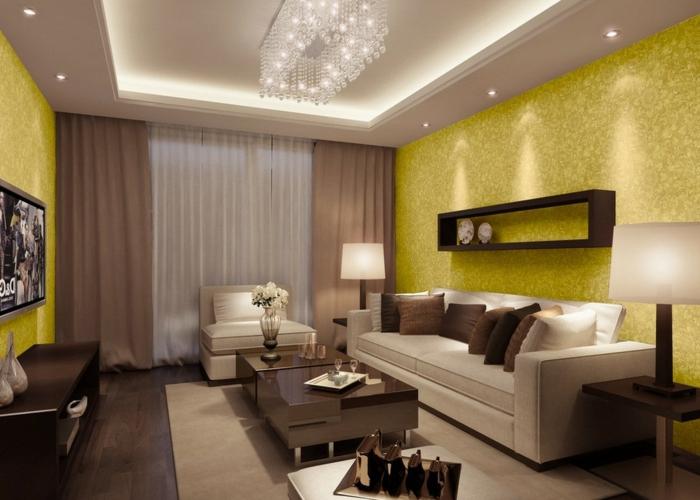 idee papier peint salon beautiful simple idee papier peint avec id es pour relooker vos murs. Black Bedroom Furniture Sets. Home Design Ideas