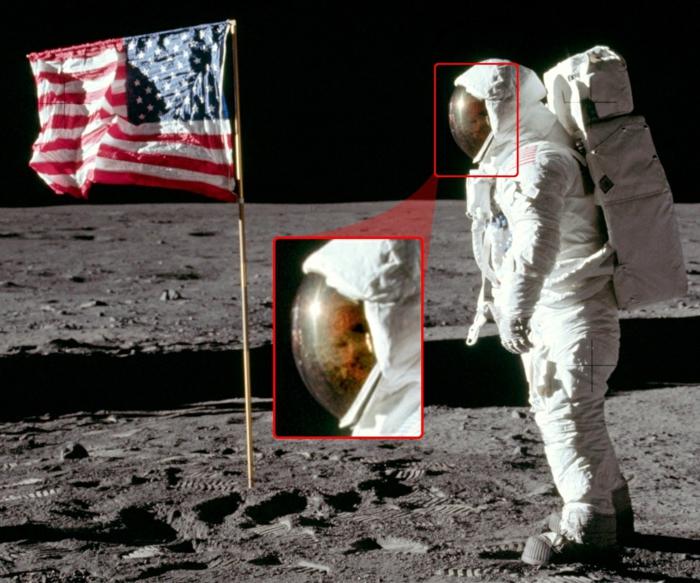 le-premier-pas-sur-la-lune-atterrissage-sur-lune-flag-américaine
