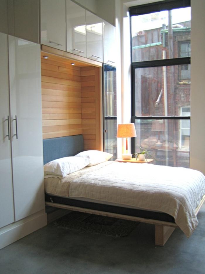 le lit abattant belles solutions pour sauver d 39 espace. Black Bedroom Furniture Sets. Home Design Ideas