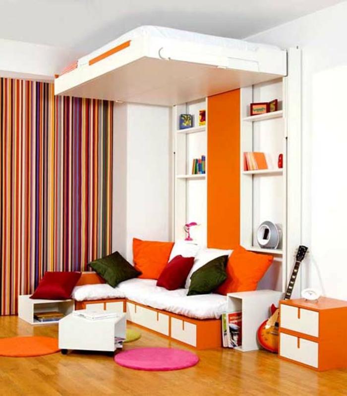 lit-mural-lit-rabattable-comment-amenager-la-chambre-orange