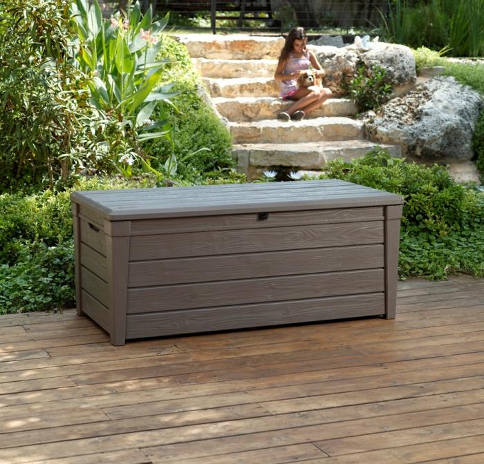 Le banc coffre de jardin - belles idées pour votre jardin - Archzine.fr