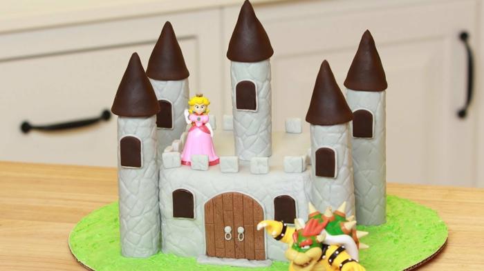 mario-castle-gateau-chateau-anniversaire-fille-anniversaire-gateau-garçon-gateau-mariage