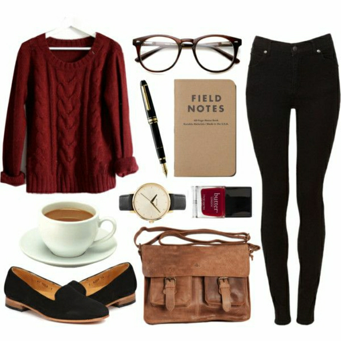 mode-hipster-femme-stylée-lunettes-hipster-cool-hipster