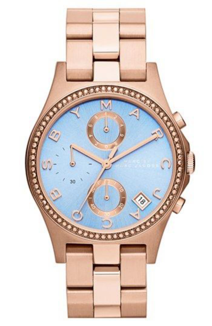 montre-marc-jacobs-superbe-rose-et-bleu-bracelet-métallique