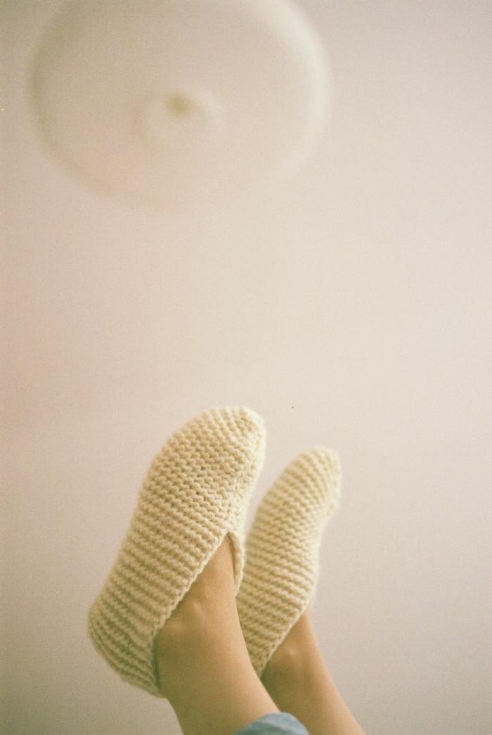 pantoufle-enfants-chausson-bébé-pantoufle-bébé-faire-soi-meme