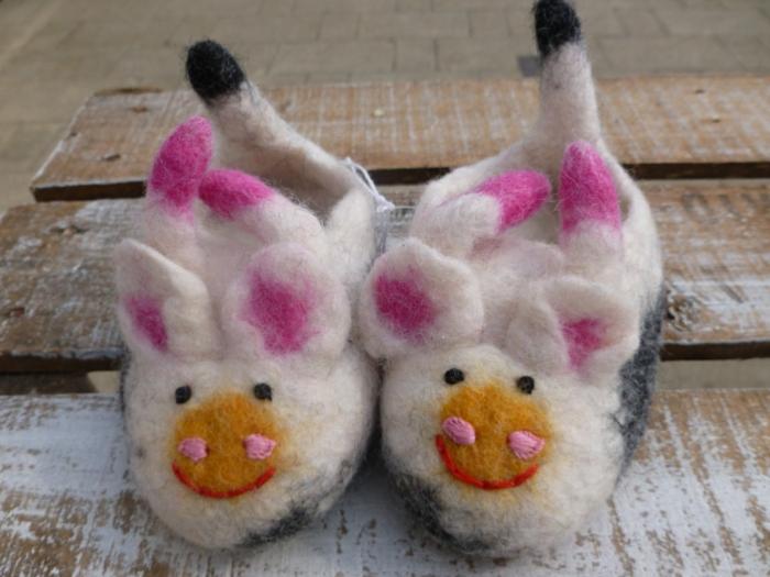 pantoufle-enfants-chausson-bébé-pantoufle-bébé-vache