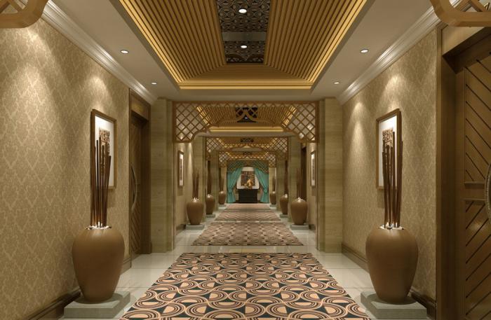 papier-peint-de-couloir-couloir-d'hôtel-luxueux