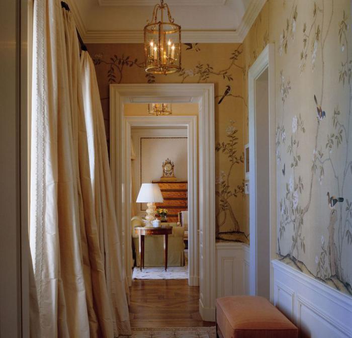papier-peint-de-couloir-déco-d'appartement-vintage-rustique