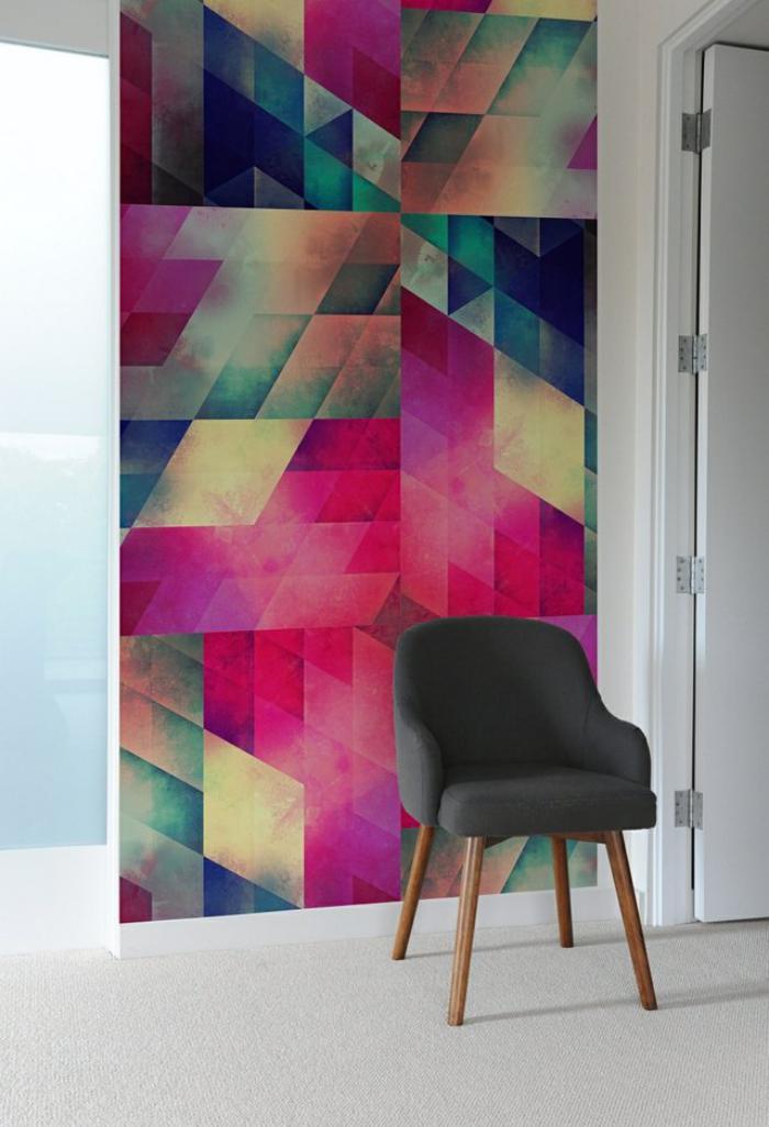 papier-peint-de-couloir-déco-murale-graphique-en-couleurs-vives