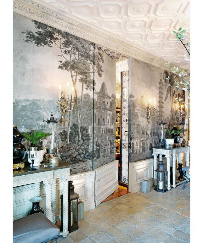 papier-peint-de-couloir-peinture-réalistique